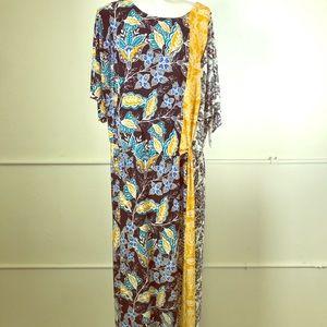 London Times Curve Julie Twist Midi Dress